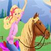 Barbie Colerea A Su Caballo