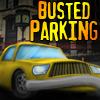 Busted Parking. Auto Chocado