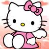 Hello Kitty Abejas En El Jardín