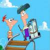 Phineas Y Ferb Construyendo La Gran Montaña Rusa