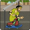 Shaggy vs Monstruo en Patineta