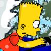 Bart conduce sobre Nieve