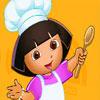 Cocinando Pastel De Cumpleaños Con Dora