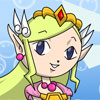 Juego de Colorear a Zelda Princesa Lolita